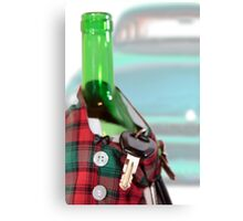 drunk and driving causes death Canvas Print