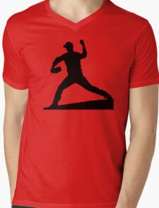 baseball silhouette Mens V-Neck T-Shirt