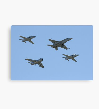 76 squadron 70th anniversary formation flypast Canvas Print