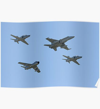 76 squadron 70th anniversary formation flypast Poster