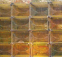 Yellow lobster traps by Alexa Clement
