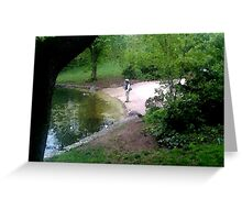 Fly fishing Prospect Park Brooklyn Greeting Card