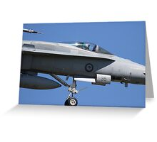 RAAF F/A 18 Hornet Greeting Card