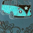 Camper in aqua by ©The Creative  Minds