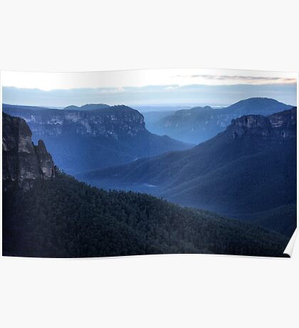 Blue Mountains Blue - Grose Valley NSW Australia Poster