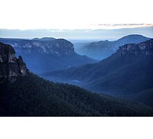 Blue Mountains Blue - Grose Valley NSW Australia Photographic Print