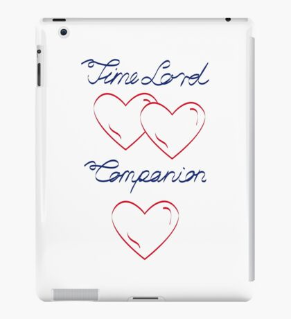 Time Lord and Companion, Doctor Who iPad Case/Skin