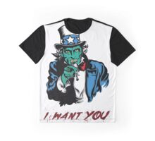 """UNCLE ZOMBIE """"I WANT YOU"""" Graphic T-Shirt"""