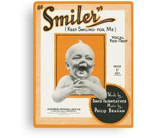 SMILER (vintage illustration) Canvas Print
