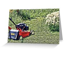 Cutting Grass Greeting Card