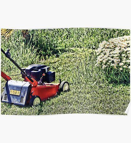 Cutting Grass Poster