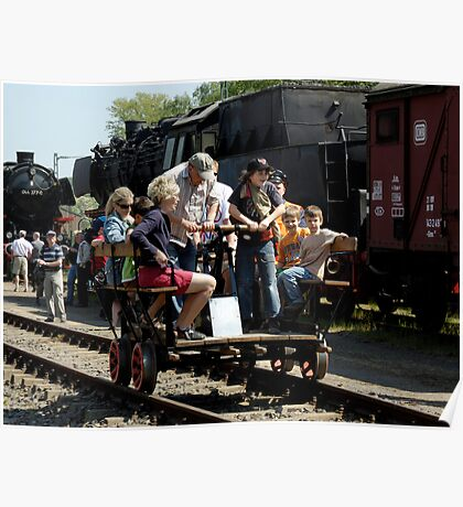 Trolley ride at Bochum Railway Museum, Germany. Poster