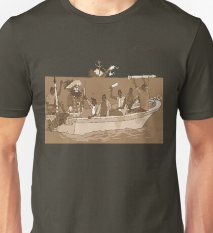 a big shot for the new-school pixel-pirates Unisex T-Shirt