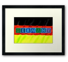 germany and flag in toy block letters Framed Print