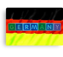 germany and flag in toy block letters Canvas Print