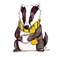 Badger House Mascot Photographic Print