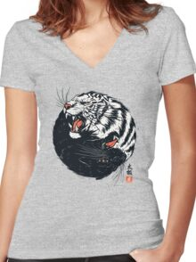 Tachi Tiger Women's Fitted V-Neck T-Shirt