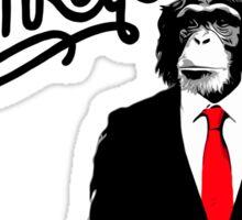 Pay peanuts, Get monkeys Sticker