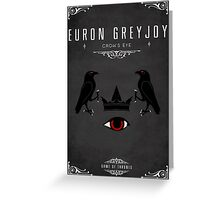 Euron Greyjoy Personal Sigil Greeting Card