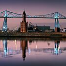 The Transporter Bridge and the Dock Tower - Middlesbrough by SteveJackson