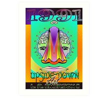 Upside-Down Artwork and Masg Art by internationally acclaimed artist L. R. Emerson II.  Art Print