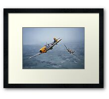 Spitfire - Bf109 - 'Some you win....' Framed Print