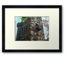 Small Balcony On the Side of the Garrett Mountain LookOut Tower, Lambert Castle Property, Woodland Park, NJ Framed Print