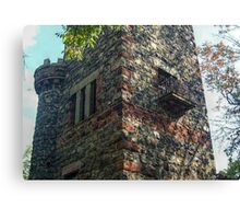 Small Balcony On the Side of the Garrett Mountain LookOut Tower, Lambert Castle Property, Woodland Park, NJ Canvas Print