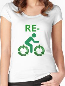 Re-cycle Women's Fitted Scoop T-Shirt