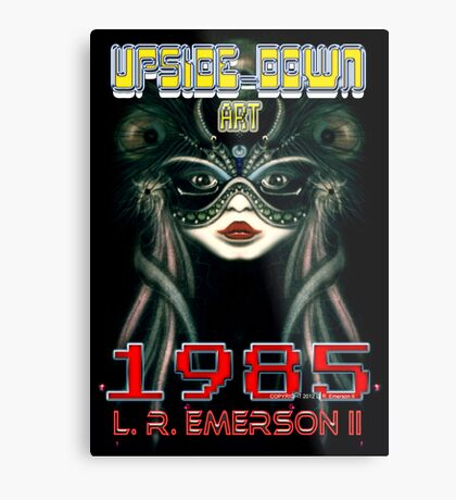 Upside-Down Artwork, Drawing and Masg Art by internationally acclaimed artist L. R. Emerson II.  Metal Print