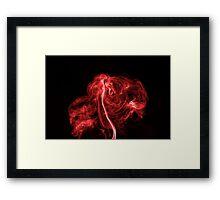 Explosive Red Framed Print
