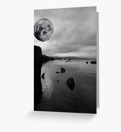 kerry black and white night view Greeting Card