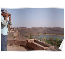 Looking out from Ranthambore Fort Poster