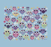 owls & blossoms Baby Tee