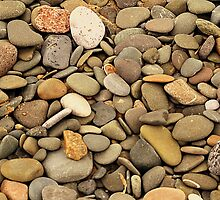 Pebbles On A Welsh Beach by Stan Owen