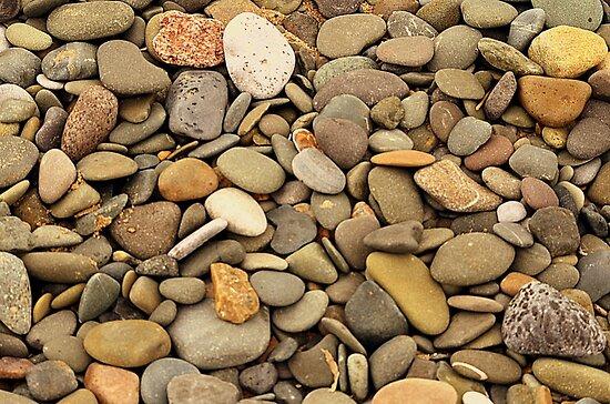 Pebbles On A Welsh Beach by Stan Owen