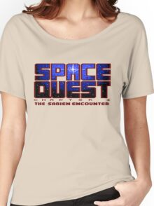Space Quest Pixel Style - Retro DOS game fan items Women's Relaxed Fit T-Shirt