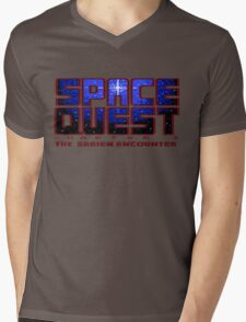 Space Quest Pixel Style - Retro DOS game fan items Mens V-Neck T-Shirt