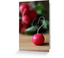 Radish Greeting Card