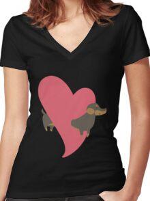 Erica Hartmann  Women's Fitted V-Neck T-Shirt