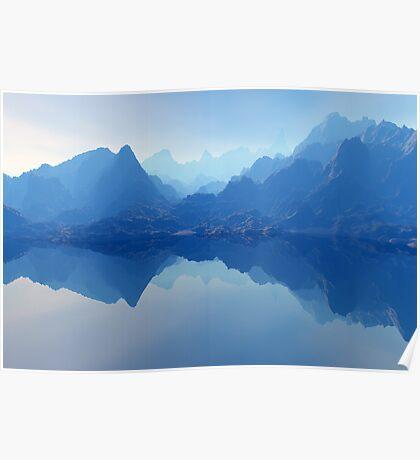 Blue Bryce Landscape Poster