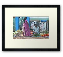 Street sales with low overheads ! Framed Print