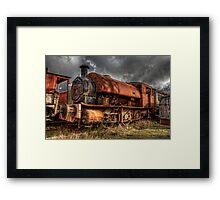 HDR Old Steam Train Framed Print
