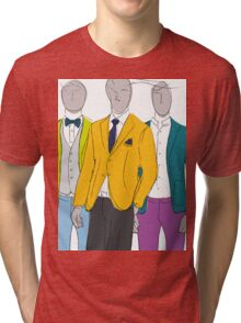 Men's Fashion Illustration  Tri-blend T-Shirt