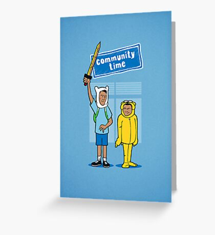 Community Time! Greeting Card