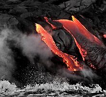Lava Flow at Kalapana 6 by Alex Preiss