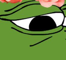 Flower Crown Pepe Frog Sticker