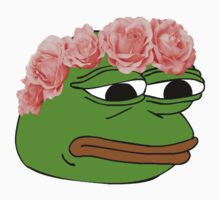 Flower Crown Pepe Frog by PennySoda