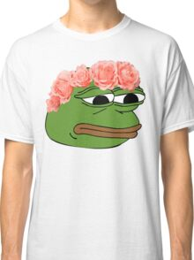 Flower Crown Pepe Frog Classic T-Shirt