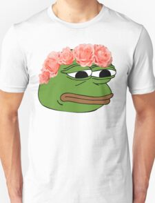 Flower Crown Pepe Frog Unisex T-Shirt